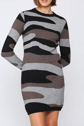 Fate Camoflage knitted sweater dress