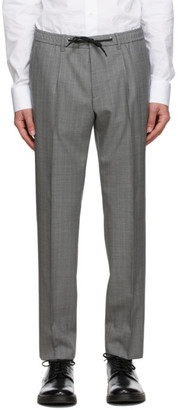 HUGO BOSS Grey Pinstripe Bardon Trousers