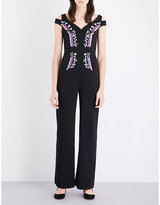 Peter Pilotto Floral-embroidered crepe jumpsuit