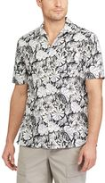 Chaps Men's Classic-Fit Floral Performance Button-Down Camp Shirt