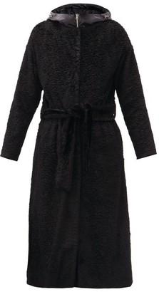 Herno Detachable-jacket Belted Faux-fur Coat - Black