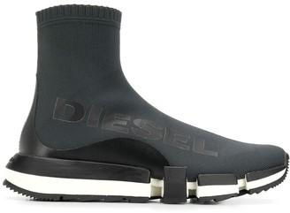 Diesel Logo Print Sock Trainers