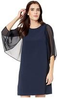 Halston Blouson Sleeve Dress (Dark Navy) Women's Dress