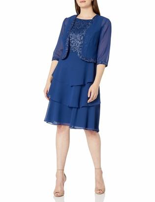 Le Bos Women's Paisley Glitter Jacket Dress