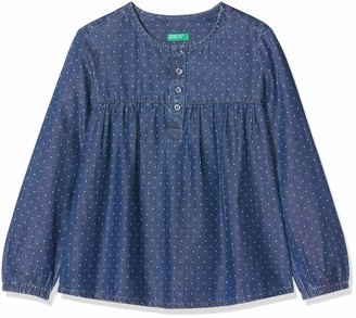 Benetton Girl's Indigo G3 Blouse
