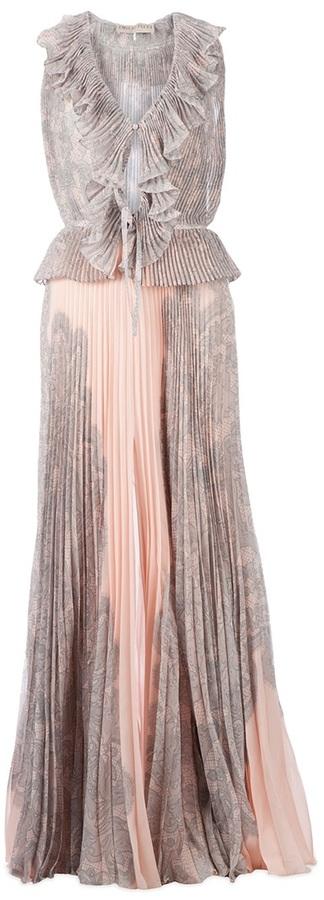 Emilio Pucci pleated full length dress