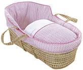 Clair De Lune Barley Bébé High Top Palm Moses Basket - Pink