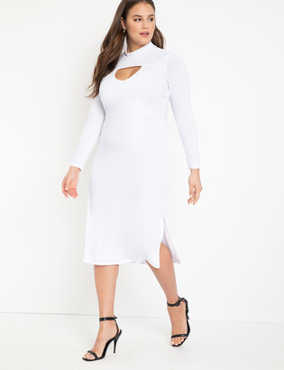 ELOQUII Turtleneck Dress with Cutout