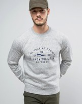 Jack Wills Barmby Chest Logo Sweatshirt in Gray