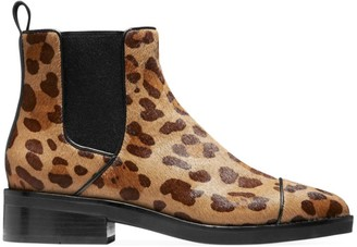 Cole Haan Mara Grand Leopard-Print Calf Hair Leather Chelsea Boots