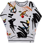 Molo Kids Bird- & Scribble-Print Cotton Sweatshirt