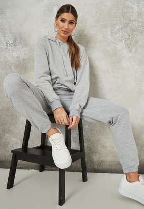 Missguided Grey Hoodie And Joggers Co Ord Set
