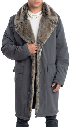 Fabulous Furs Men's Storm Coat with Faux Fur