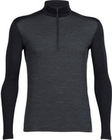 Icebreaker Men's Oasis Long Sleeve Half Zip Toothstripe Baselayer
