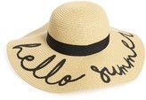 BP Women's Hello Summer Floppy Straw Hat - Beige