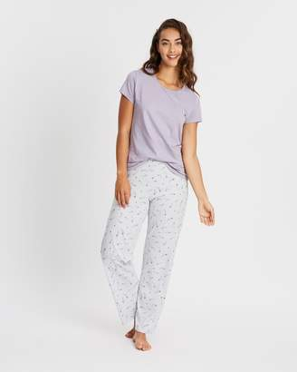 Marks and Spencer SS Feather Pyjama Set