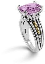 Lagos 18K Gold and Sterling Silver Prism Amethyst Ring