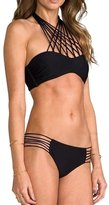 Your Gallery Women's Halter Bandeau Top Strappy Bottom Bathing Suit Swimsuit Large