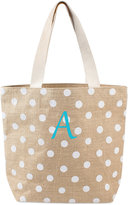 Cathy's Concepts Personalized White Polka Dot Extra-Large Tote Bag