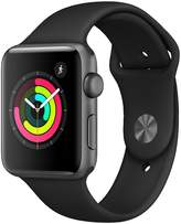 Apple Watch Series 3 (GPS), 42mm Space Grey Aluminium Case With Black Sport Band
