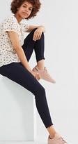 Esprit Dark denim skinny jeans w hem zips