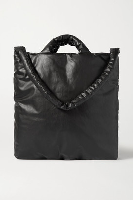 Kassl Editions - Oil Padded Coated Cotton-blend Tote - Black
