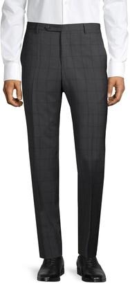 Zanella Regular-Fit Check Virgin Wool Pants