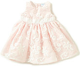 Edgehill Collection Baby Girls Newborn-24 Months Floral-Embroidered Organza-Overlay Dress
