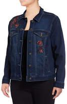 Style And Co. Plus Aurora Floral Denim Jacket