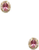 Meira T Women's 14K Yellow Gold, Pink Tourmaline & 0.14 Total Ct. Diamond Stud Earrings
