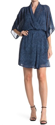 Love Stitch Short Sleeve V-Neck Elastic Waist Dress