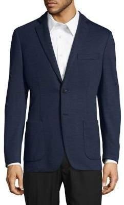 Black & Brown Black Brown Knit Suit Jacket