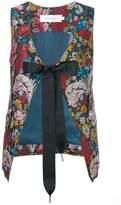 Marques Almeida Marques'almeida floral tied waistcoat