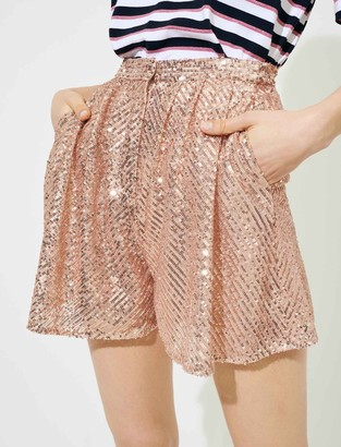 Maje Sequinned shorts