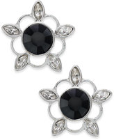 Vera Bradley Silver-Tone Crystal Bouquet Stud Earrings