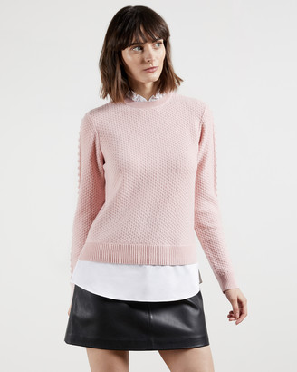 Ted Baker TEAGGAN Frill detail mockable jumper