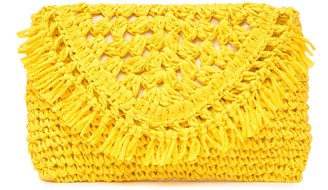 Melrose and Market Woven Straw Clutch
