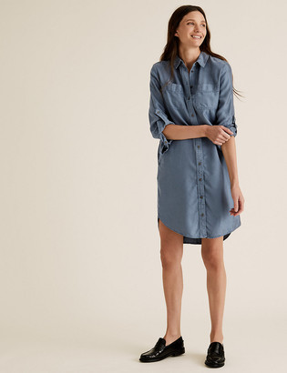 Marks and Spencer Tencel Knee Length Relaxed Shirt Dress
