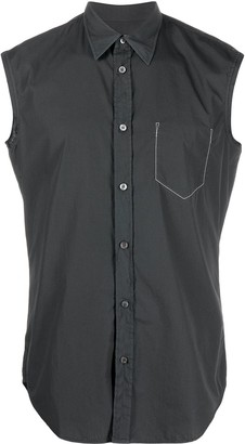 Maison Margiela Sleeveless Stitch Detail Shirt