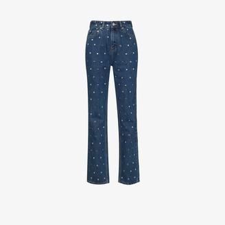 Ganni Studded Straight Leg Jeans