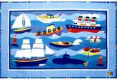 "Fun Rugs Olive Kids Boats and Bouys Kids Rug Rug Size: 1'7"" x 2'5"""