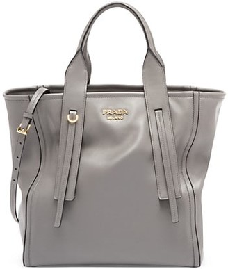 Prada Grace Luxe Leather Shopper