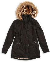 Urban Republic Girls 7-16 Faux Fur Accented Walking Coat
