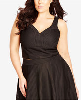 City Chic Plus Size Eyelet Crop Top