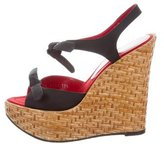 Dolce & Gabbana Ankle-Strap Platform Wedges