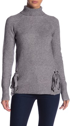 Love Token Tie Sides Turtleneck Sweater
