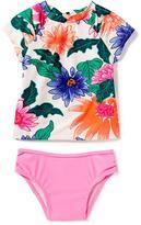 Old Navy Floral Peekaboo Rashguard & Bikini Swim Set for Toddler
