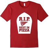 Junk Food Clothing Men's RIP Rest in Pizza Funny Graphic Food T-shirt XL