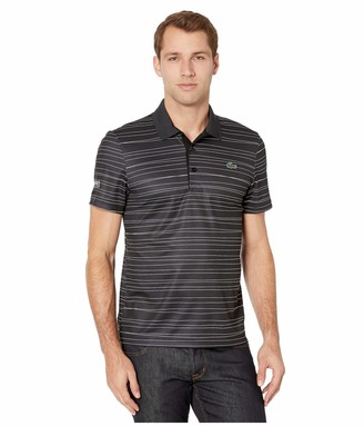 Lacoste Mens Sport Short Sleeve Printed Striped Polo Polo Shirt