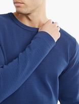 S.n.s. Herning Blue Textured Cotton Handle Sweatshirt